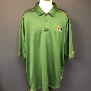 Nike Miami Hurricane polo shirt L